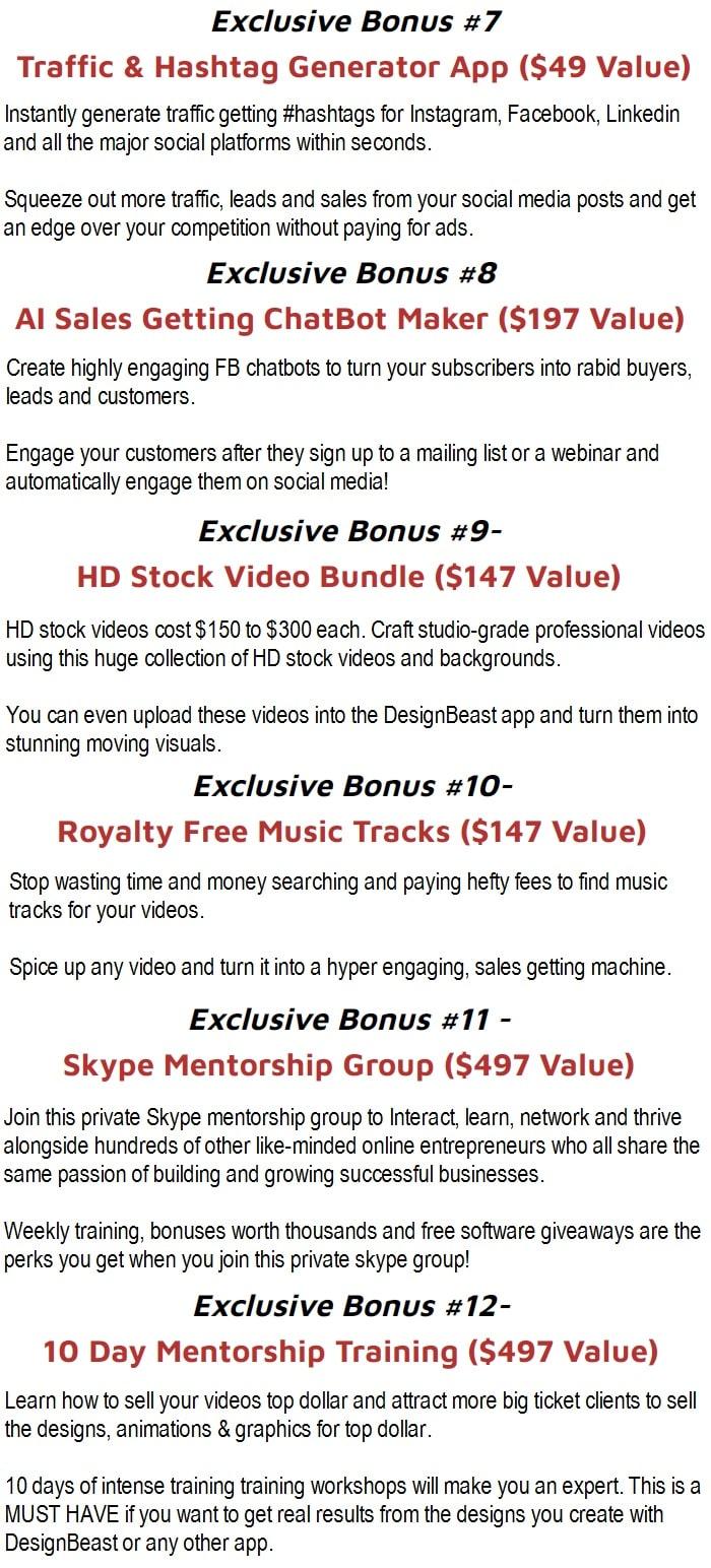 DesignBeast Bonuses