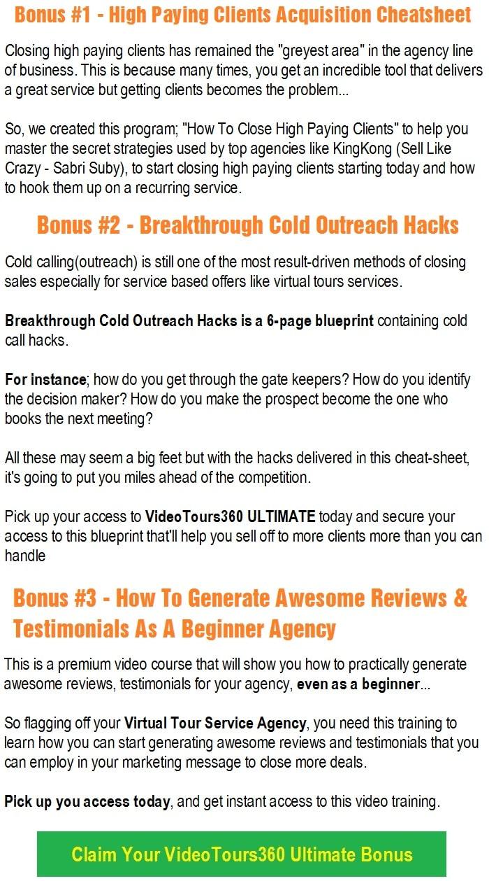 VideoTours360 Ultimate OTO2 Bonus